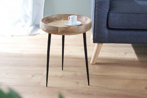 Elegancki stolik PURE NATURE 36cm wykonany z drewna mango