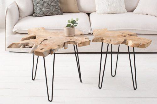 Ekskluzywny stolik z drewna tekowego WILD 60cm