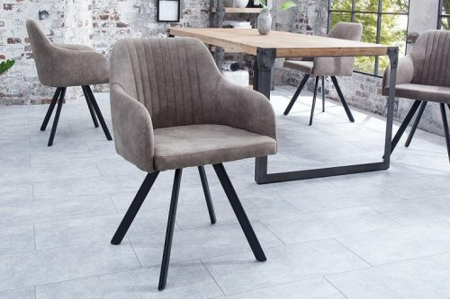 Krzesło Lucca vintage ciemnoszare