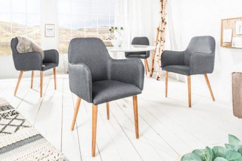 Krzesło OSLO ciemnoszare skandynawskie