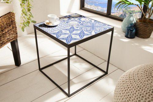 Egzotyczny stolik MARRAKECH 40cm niebieski