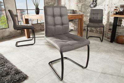 Nowoczesne krzesło  MODENA pikowane szare