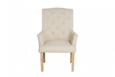 Eleganckie krzesło z podłokietnikami LONG ISLAND beżowe
