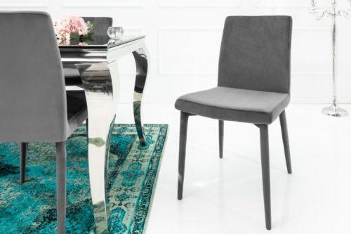 Krzesło MILANO szare invicta interior aksamit