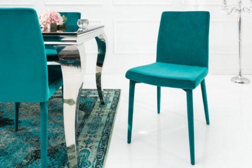 Krzesło MILANO aqua aksamit