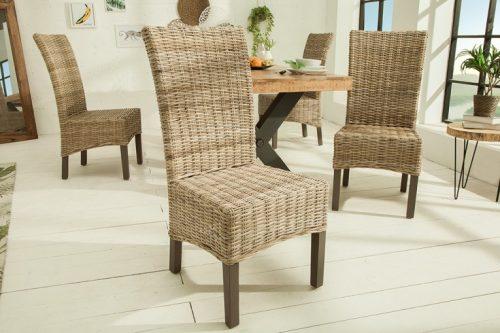 Eleganckie krzesło do jadalni BALI naturalne