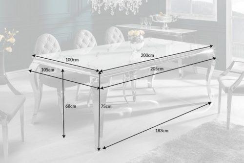 Stół MODERN BAROCK 200cm biały