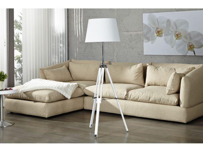 SYLT Nowoczesna lampa podłogowa stojąca tripod biała