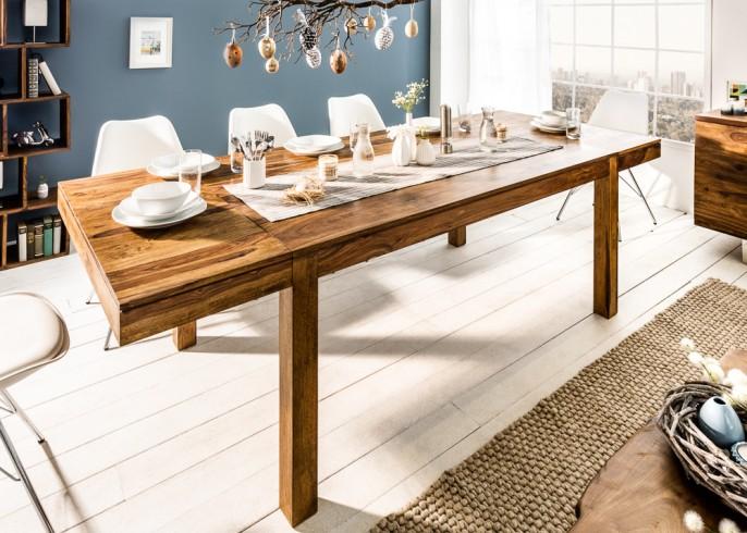 Stylowy stół do jadalni Pure 160 cm – 240 cm drewno Sheesham