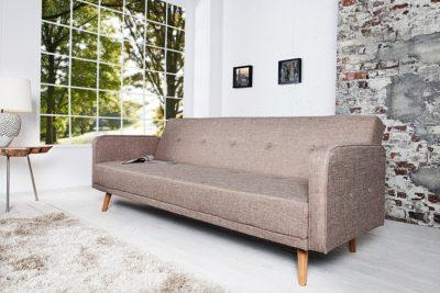 Rozkładana sofa SCANDINAVIA 210cm skandynawska beżowa