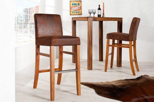 Krzesło barowe VALENTINO sheesham brązowe hoker