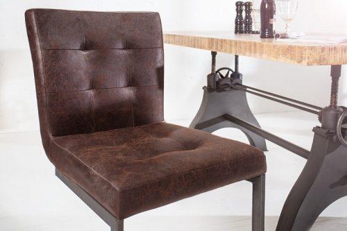 Krzesło barowe RIDER vintage brąz na płozach