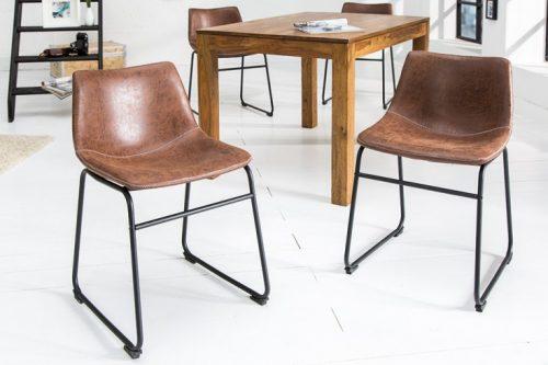 Krzesło DJANGO vintage brązowe