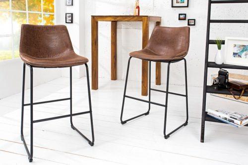 Krzesło barowe DJANGO vintage brązowe