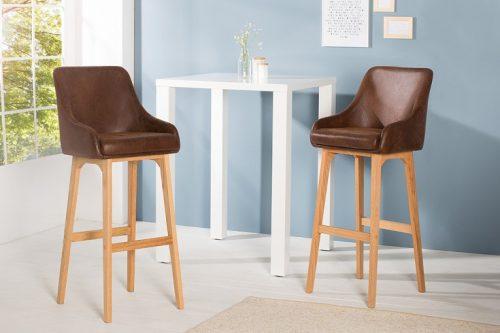 Krzesło barowe SCANDINAVIA MASTERPIECE antyczny brąz hoker