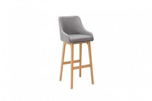 Krzesło barowe SCANDINAVIA MASTERPIECE szary hoker