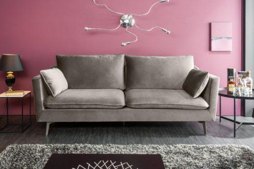 Sofa FAMOUS 210cm srebrnoszara