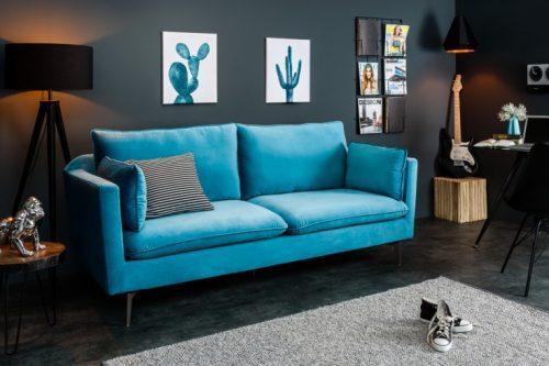 Sofa FAMOUS 210cm niebieska