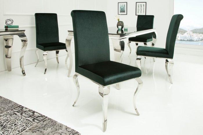 Krzesło MODERN BAROCK szmaragdowa zieleń