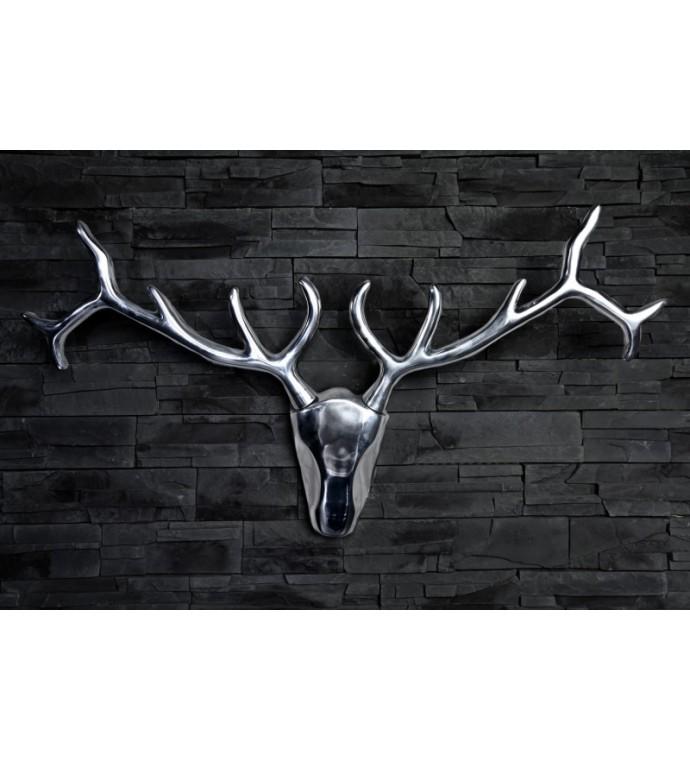Nowoczesne aluminiowe poroże Bull 90 cm
