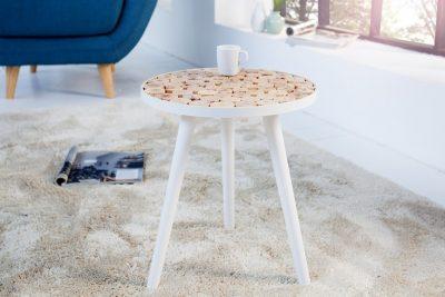 Ręcznie wykonany stolik PURE NATURE MIX 40 cm