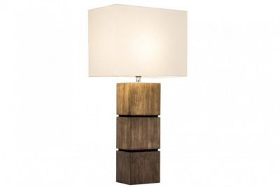 Elegancka lampa stołowa PURE NATURE II bawełniana