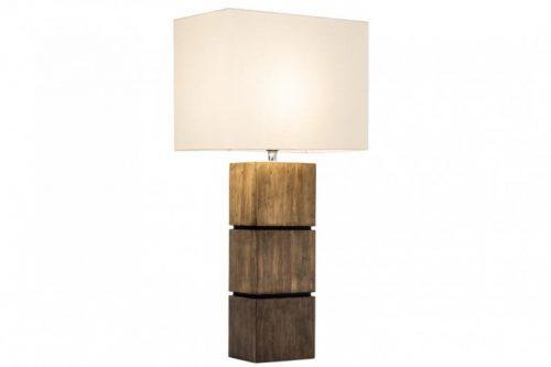 Elegancka lampa stołowa PURE NATURE I bawełniana