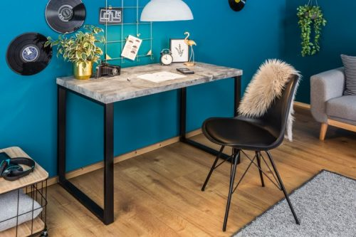 Współczesne biurko CONCRETE DESK 120cm betonowy blat