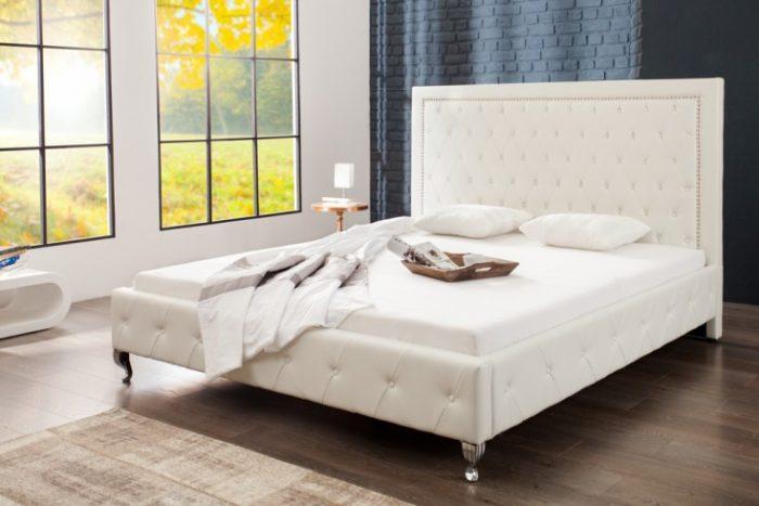 Nowoczesne łoże do sypialni EXTRAVAGANCIA 180x200cm białe