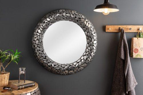 Lśniące lustro MOSAIC 82cm mozaika srebrna