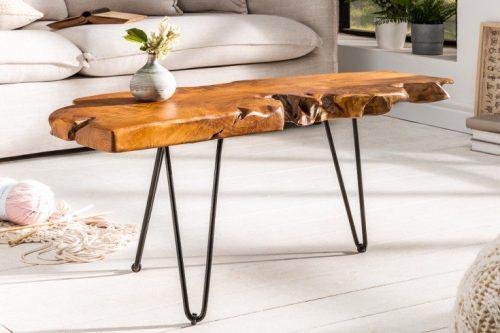 Ekskluzywny stolik z drewna akacjowego WILD 100cm