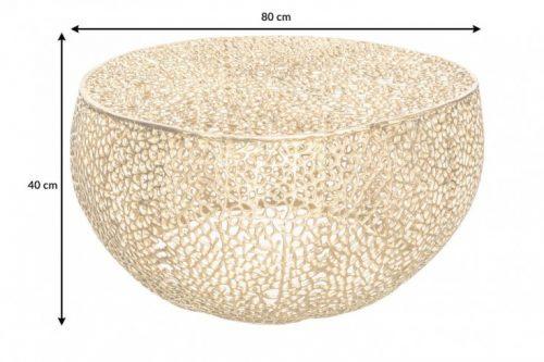 Stolik kawowy LEAF 80cm złoty