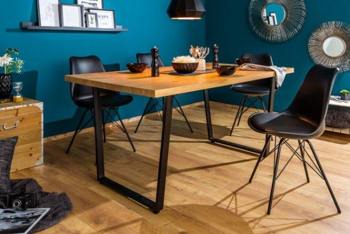Stół do jadalni LOFT 160cm Industrialny dąb