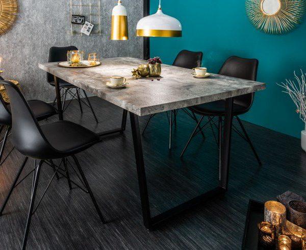 Bardzo dobryFantastyczny Stół do jadalni LOFT 160cm Industrialny szary | Fabryka Design WB05