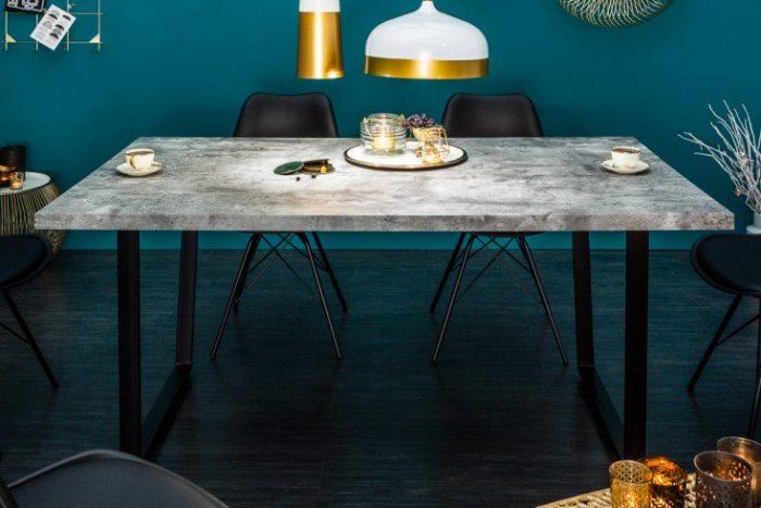 Stół do jadalni LOFT 160cm Industrialny szary