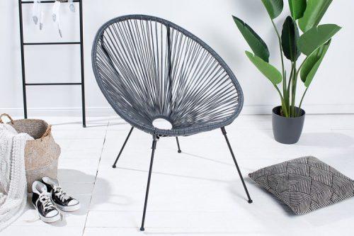 Antracytowy fotel ACAPULCO na zewnątrz i wewnątrz