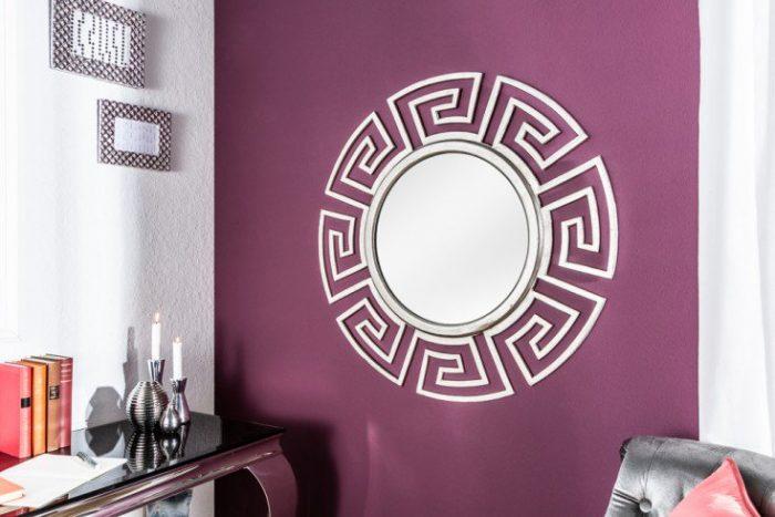 Efektowne lustro EUPHORIA 85cm srebrne lustro ścienne