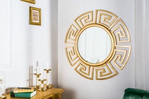 Efektowne lustro EUPHORIA 85cm złote lustro ścienne