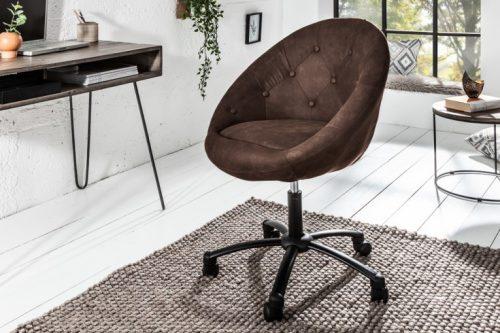 Fotel biurowy Couture brązowy