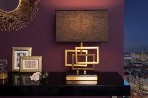 Nowoczesna lampa stołowa LEONOR 56cm złota