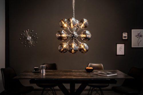 Ekstrawagancka lampa wisząca GALAXY 72cm srebrna