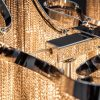 Ekstrawagancka lampa wisząca ELEGANCE 118cm srebrna