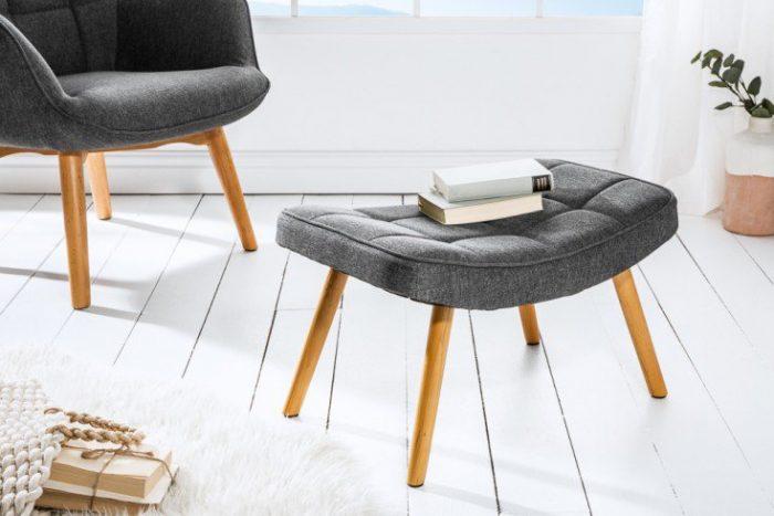 Skandynawski stołek SCANDINAVIA szary