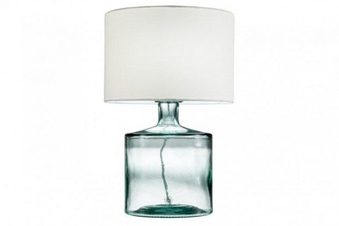 Elegancka lampa stołowa CLASSIC II błękit szkło