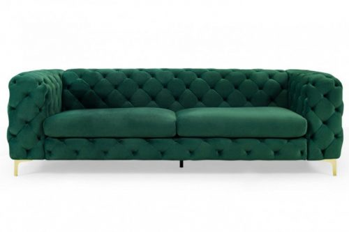 Sofa Modern Barock 240 cm szmaragdowa