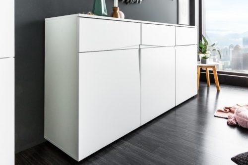 Nowoczesny kredens ORGANIC 150cm biały