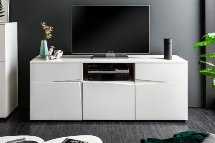 Nowoczesna TV-Board ORGANIC 165cm biały