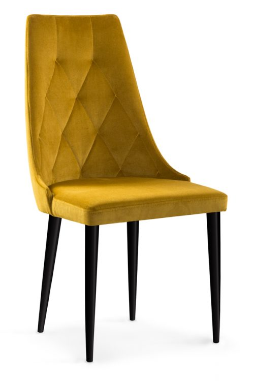Krzesło nowoczesne design CAREN II VELVET miodowy