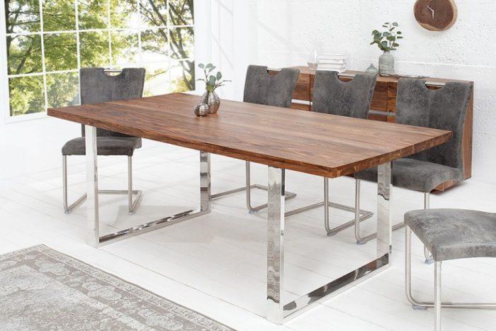 Masywny stół do jadalni FIRE 200cm drewno Sheesham