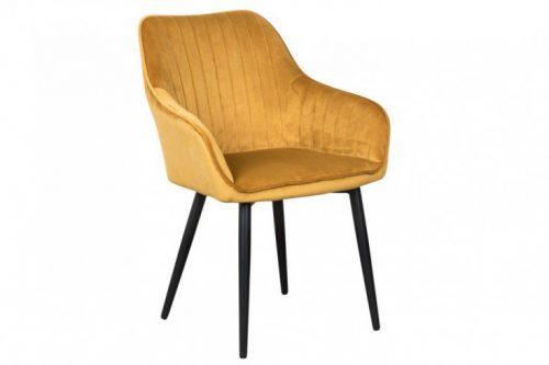 Krzesło TURIN vintage musztardowy